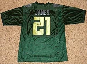 Lamichael James Signed Jersey - Green Bcs #21 Nike - JSA Certified - Autographed... by Sports+Memorabilia