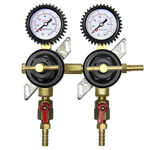 Kegco LHC-96-S2 Premium Two Product Secondary Co2 Regulator (Co2 Regulator Shut Off Valve compare prices)