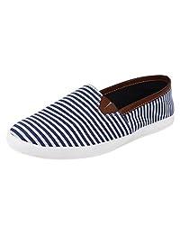 Hirolas Men Stripes Slip-ons - Blue