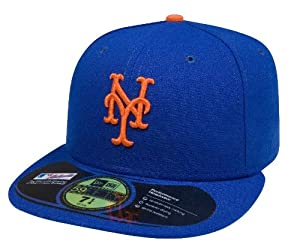 New York Mets 59Fifty Authentic Fitted Performance Game MLB Baseball Cap - Size 7 5/8