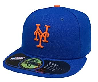 New York Mets 59Fifty Authentic Fitted Performance Game MLB Baseball Cap - Size 7