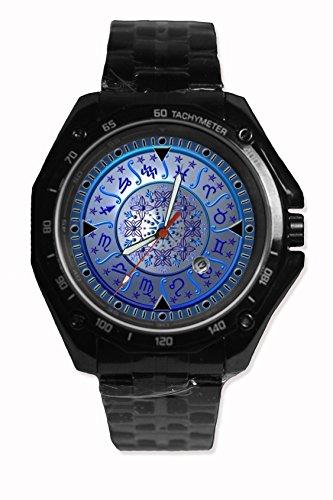 Hot Item Zodiac Symbols Logo Sport Watch Custom Image Design Black Alloy
