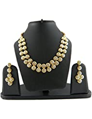 Shreyadzines Classic Collection Stone Necklace Set For Women
