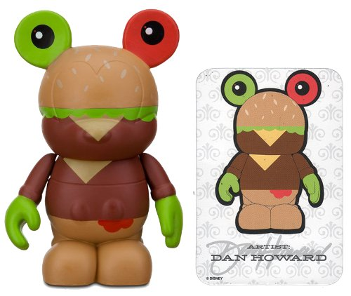 "Cheeseburger By Dan Howard - Disney Vinylmation ~3"" Urban Series #3 Designer Figure (Disney Theme Parks Exclusive)"