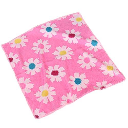 Lovely Baby Toddler Colorful Pattern Absorbent Fiber Bibs Saliva Towel (E2)