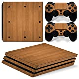 GoldenDeal PS4 Pro Skin and DualShock 4 Skin - Wood Design - PlayStation 4 Pro Vinyl Sticker for Console and Controller Skin