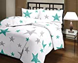 Snoopy Double Bed Blue Star Gazer Comforter, Quilt (250 GSM)