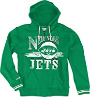 "York Jets Mitchell & Ness ""Start of Season"" Full Zip Sweatshirt - Green by Mitchell & Ness"