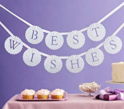 Martha Stewart Crafts Banner, White Best Wishes