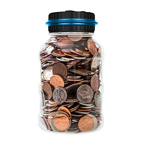 ONEVER Automatic Coin Counter Piggy Banks Creative Large Money Saving Jar Bank LCD Display (Big Change Jar compare prices)