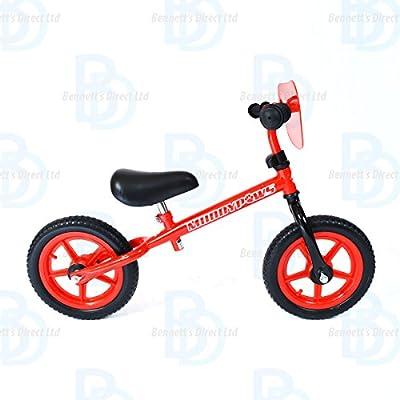 "MuddyPaws Balance Bike 12"" Frame - Red and Black - Unisex"