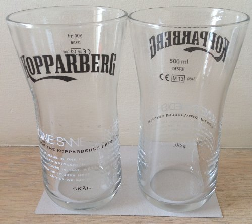 Kopparberg suédois cidre 500 ml/17,6 ml Edition limitée-Verre culbuto (lot de 2)
