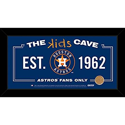 MLB Kids Cave Sign with Game Used Dirt from Minute Maid Park