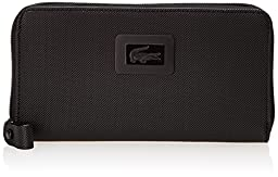Lacoste Women\'s Classic Large Zip Wallet, Black, One Size