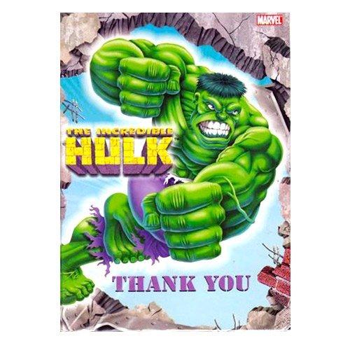 Incredible Hulk Animated Thank You Notes w/ Envelopes (8ct)