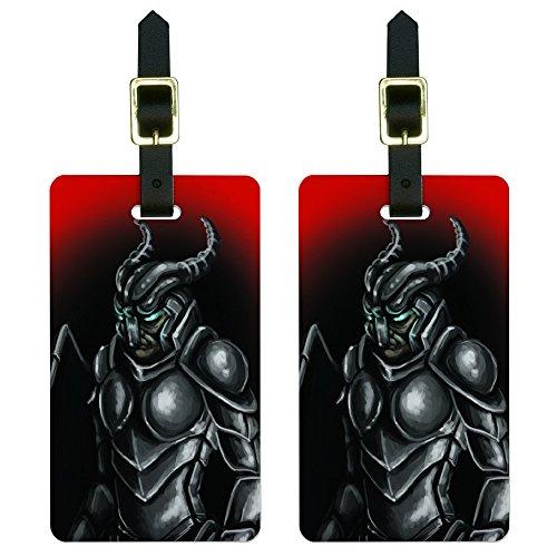 Knight Armor - Medieval Gladiator Warrior Dragon Slayer Fantasy Luggage Tags Set