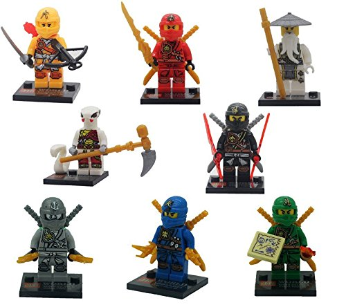 8pcs/Lot Decool Cole Kai Jay Zane Ninja Minifigures Building Blocks Figures Gifts toys (Custom Marvel Legends compare prices)