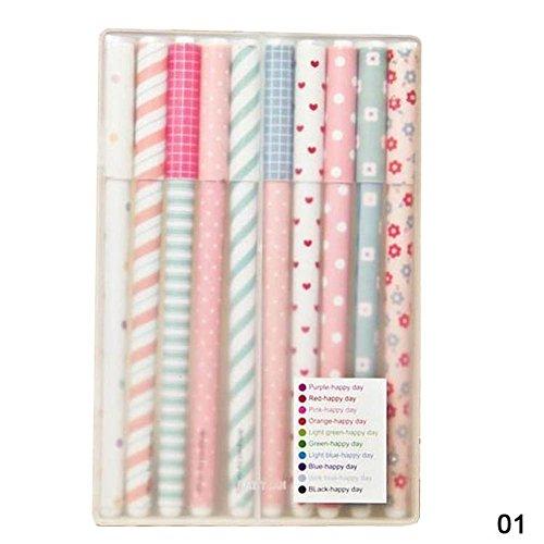 YAKO-Set di penne a sfera, confezione da 10, colore: multicolore