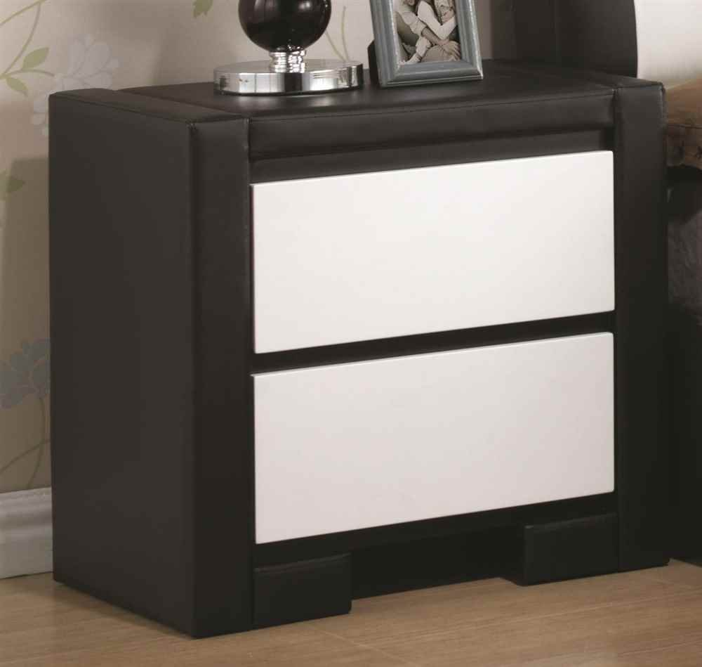 Coaster Home Furnishings Contemporary Nightstand, White/Black декоративные украшения green home furnishings