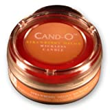 Candle Breeze Small Cand-o Strawberry Melon Scented / Fragrance Wickless, Flameless, Lead free Candle with Lid ~ Candle Breeze
