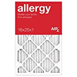 AiRx ALLERGY 16x25x1 Air Filters - Best for Allergy Protection - Box of 6 - Pleated 16x25x1 MERV 11 Air Filters, AC Filters, Furnace Filter - Energy Efficient