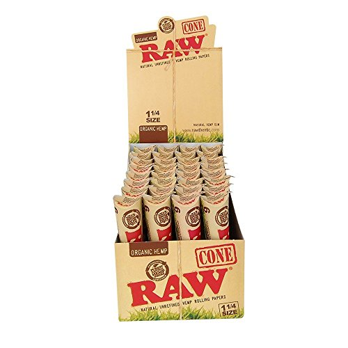 6-Raw-ORGANIC-Cones-Pre-Rolled-Rolling-Papers-Raw-ORGANIC-Natural-Unrefined-Cones-Rolling-Paper-125-Size-1-Pack-of-6-Cones-Beamer-Smoke-Limited-Edition-Sticker