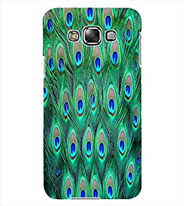 ColourCraft Peacock Feathers Design Back Case Cover for SAMSUNG GALAXY GRAND 3