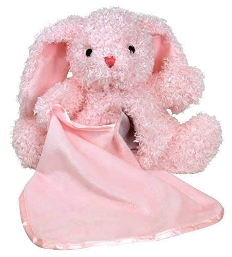 Stephan Baby Super Soft Plush Blankie Buddy Security Blanket, Pink Bunny front-521522