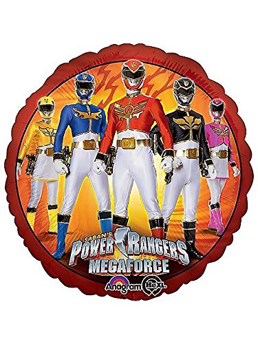 Anagram International HX Power Ranger Mega Force Packaged Party Balloons, Multicolor