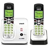 VTech CS6219-2 DECT 6.0 Cordless Phone, Silver/Black,  2 Handsets