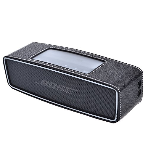 Cosmos ® Black Color Pu Leather Protective Cover Case Skin Sleeve Bumper For Bose Soundlink Mini Wireless Bluetooth Speaker