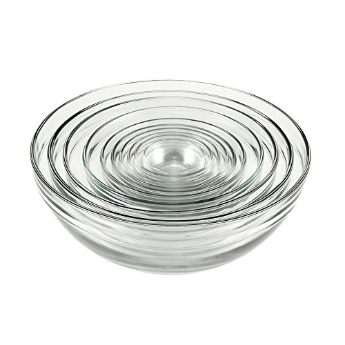 Anchor Hocking Glass Bowl Set - 10 pcs (Anchor Hocking Mixing Bowl Set compare prices)