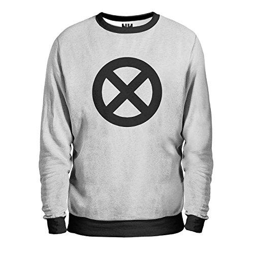 X-MEN - Marvel Comics Sweatshirt Man - Felpa Uomo - Film Apocalypse, T-Shirt Wolverine Professor X Quicksilver, Fumetti Film Supereroi Stan Lee