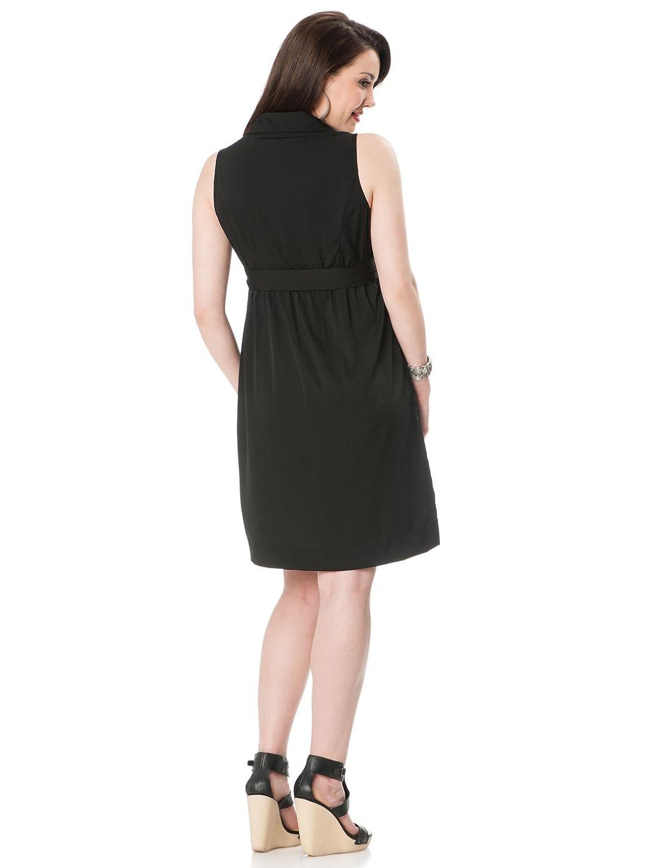 Motherhood Sleeveless Button Front Maternity Dress