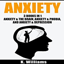 Anxiety: 3 Books in 1: Anxiety and the Brain, Anxiety and Phobia, & Anxiety and Depression Audiobook by K. Williams Narrated by Michael Hatak