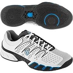 Buy K-Swiss Mens Bigshot II Tennis Shoes (White  Grey  Black  Blue) by K-Swiss