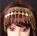 Bellyqueen Belly Dance Metal Headband With Gold Coins