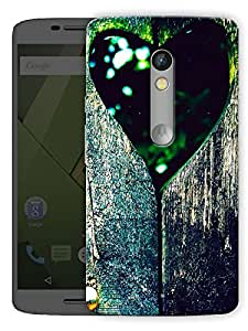 """Heart In Wood Bark Printed Designer Mobile Back Cover For """"Motorola Moto X Play"""" By Humor Gang (3D, Matte Finish, Premium Quality, Protective Snap On Slim Hard Phone Case, Multi Color)"""
