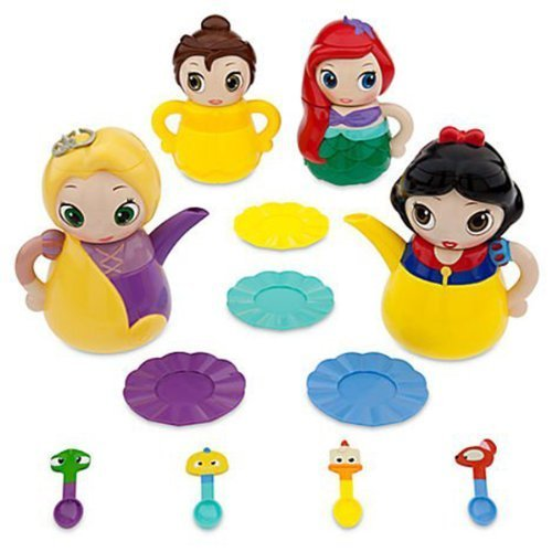 "Disney Princess "" Q-Tea Play Set "" Tea Party Set Featuring Ariel, Belle , Snow White And Rapunzel By Disney"