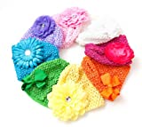 Ema Jane - Crochet Baby Beanie Waffle Hats with & Hair Accessories 16 Pack