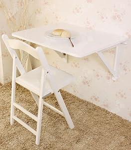Sobuy tavolo da muro pieghevole in legno 75 60cm con due supporti colore bianco so fwt05 w - Tavolo da muro pieghevole ...