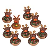 9 Rubber Duck Duckie Ducky CHRISTMAS REINDEER Party Favors