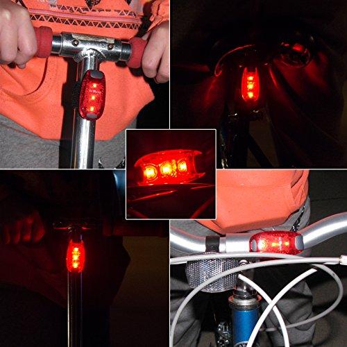 mivortex reflective safety lights led 2 pack bike straps clip on strobe fo. Black Bedroom Furniture Sets. Home Design Ideas