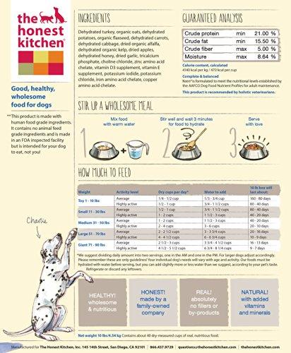 The Honest Kitchen Keen: Turkey & Whole Grain Dog Food, 10 lb_Image3