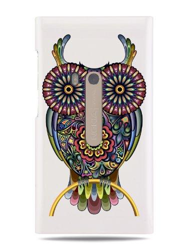 """Grüv Premium Case """"Indian Owl Tribal Digital Art"""" Design For Nokia N9 (Best Quality Designer Print On White Hard Cover)"""