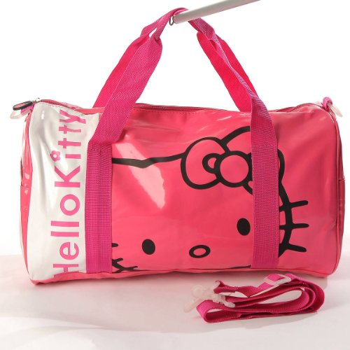 leather gym bag  Hello Kitty Patent Leather Duffle Gym Travel Bag ... b18f5e507328f
