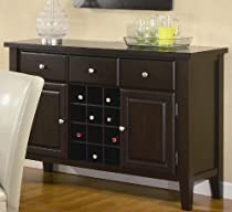 Hot Sale Coaster Carter Buffet Style Server in Dark Brown Wood Finish