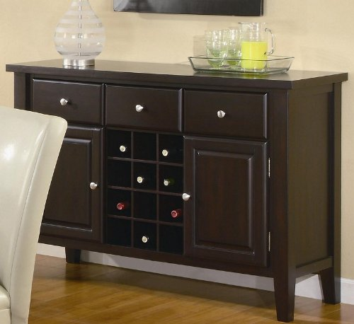Coaster Carter Buffet Style Server in Dark Brown Wood Finish (Buffet Style Server compare prices)