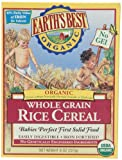 Earths Best Organic Whole Grain Rice Cereal