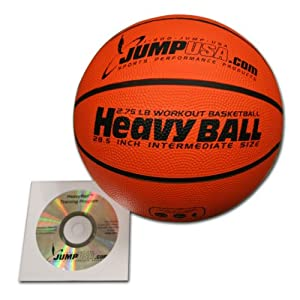 Buy Heavy Ball 3lb Weighted Trainer Basketball Hi-Carbon Rubber with Skills Video by HeavyBall Basketball